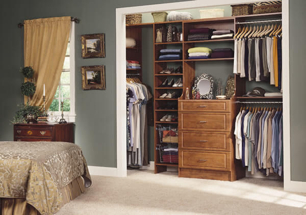 Hardware used in MasterSuite closets